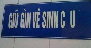 Giữ gìn vệ sinh…