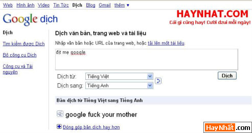 Google, Web, Website, Chửi bậy, Fuck, Fuck you