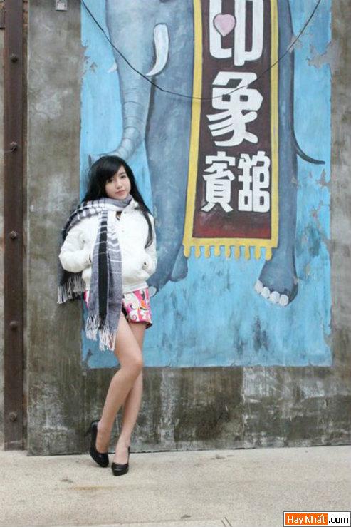 Elly mặc bikini giữa trời lạnh 13 độ C 8