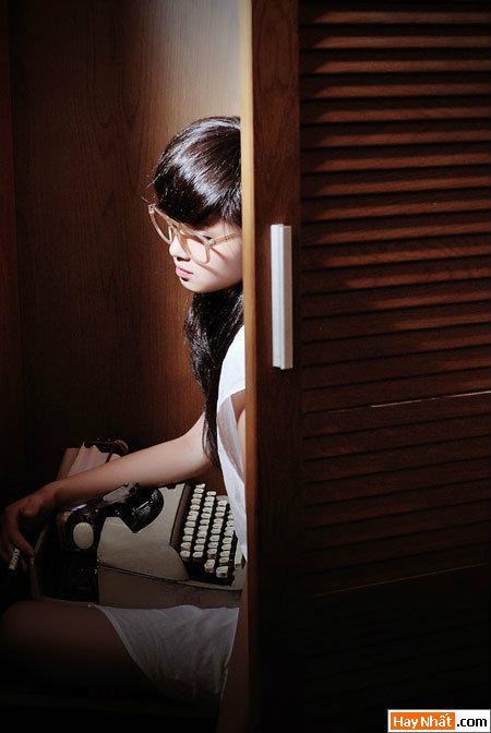 Tâm 'Tít' hóa thân thành nhà văn xinh đẹp 5