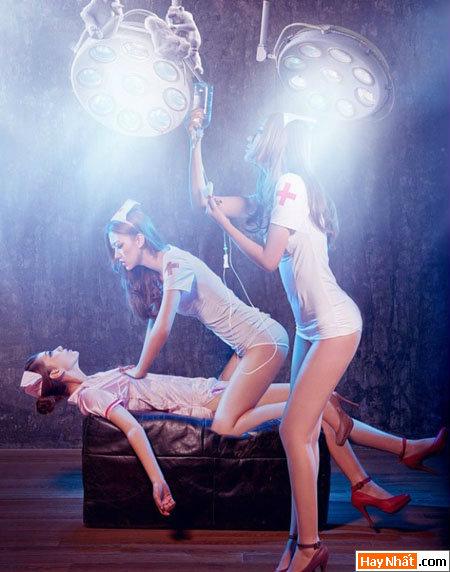 Hết hồn đêm Halloween với những nàng y tá sexy 2014 3