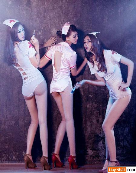 Hết hồn đêm Halloween với những nàng y tá sexy 2014 2