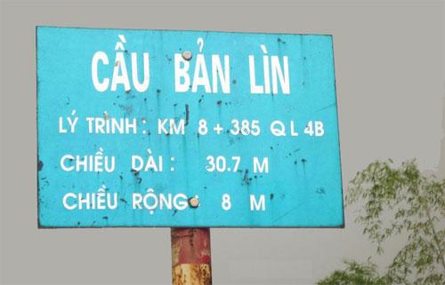 Cầu Bản Lìn tại Lạng Sơn.