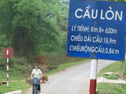 Cầu Lòn thuộc huyện Hương Thủy, thành phố Huế