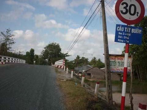 Cầu Tắt Bướm ở Sóc Trăng.
