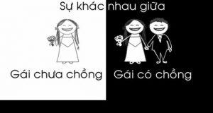 Sự khác nhau giữa gái có chồng và gái chưa chồng