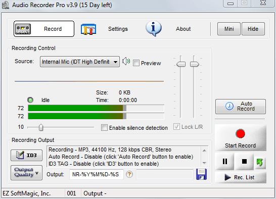 phần mềm ghi âm trên máy tính