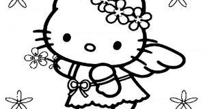 15+ tranh tô màu Hello Kitty siêu dễ thươngcho bé