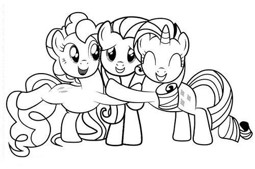 Tranh tô màu Pony đẹp