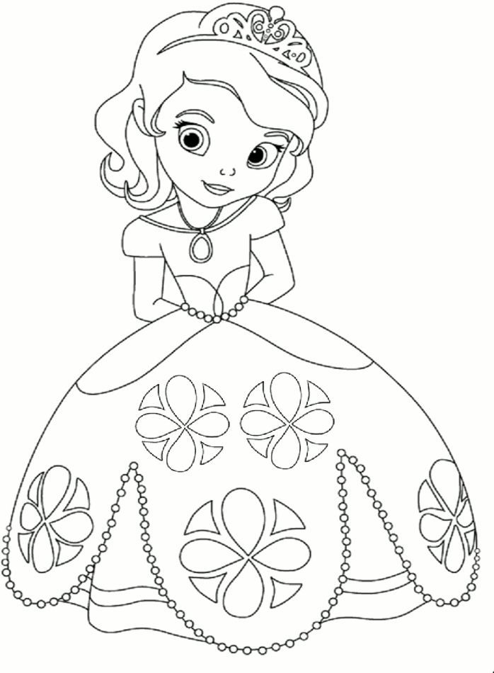 Tranh tô màu công chúa Sofia đẹp