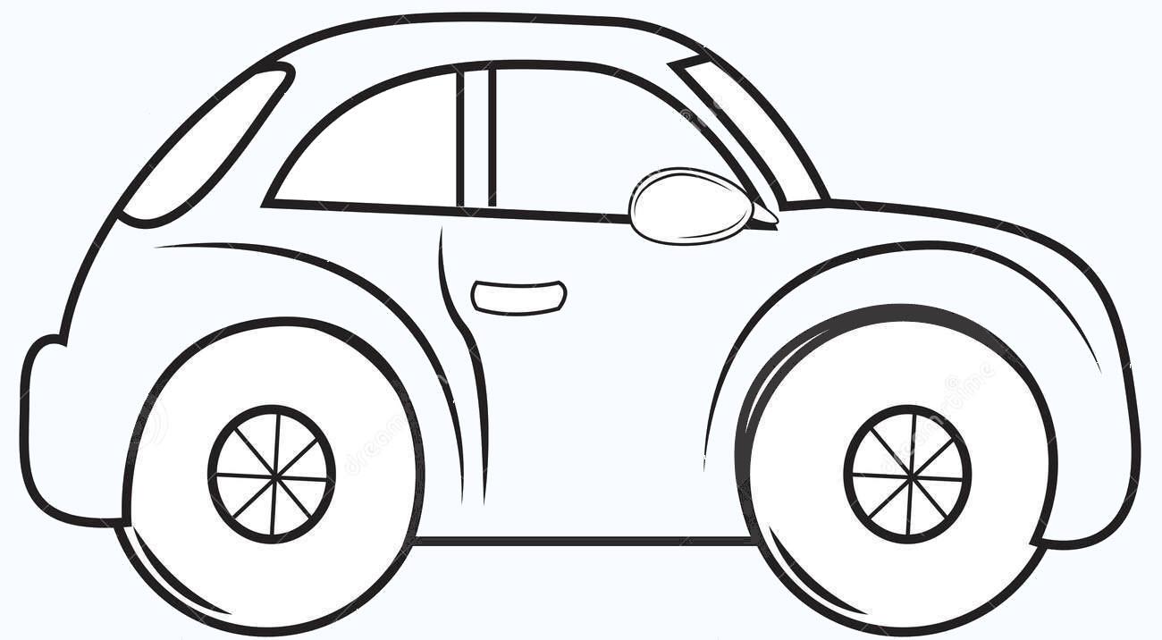 Tranh tô màu xe ô tô