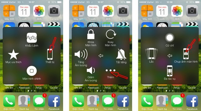 chụp màn hình điện thoại iphone