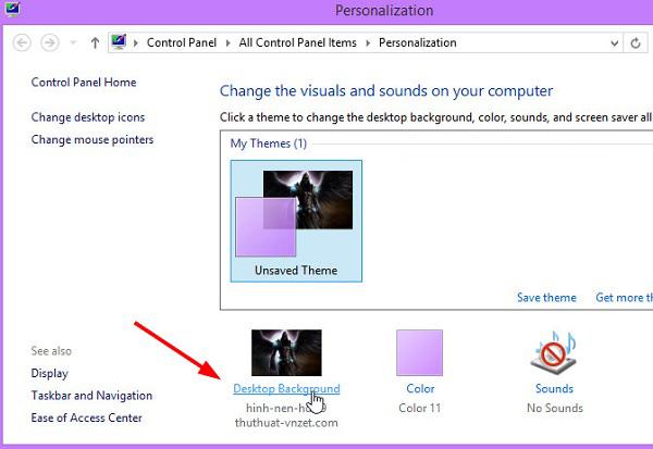 đổi hình nền máy tính laptop