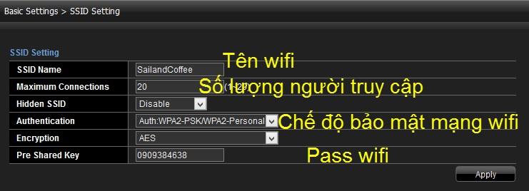 đổi mật khẩu wifi