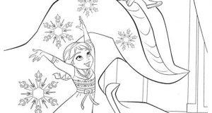 15+ Tranh tô màu công chúa Elsa lạnh lùng, dễ thương