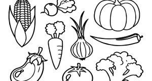 Tuyển tập tranh tô màu rau củ quả các loại để bé yêu trổ tài sáng tạo