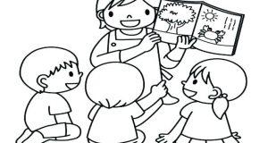 Tuyển tập tranh tô màu cô giáo dễ thương và ý nghĩa nhất