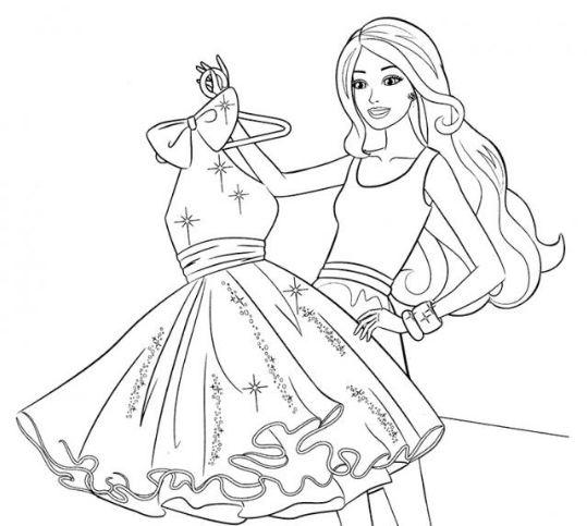 tranh tô màu quần áo cho bé