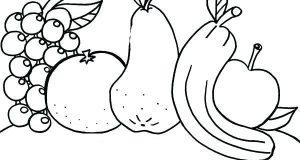 15+ Tranh tô màu trái cây đẹp mắt, dễ thương nhất