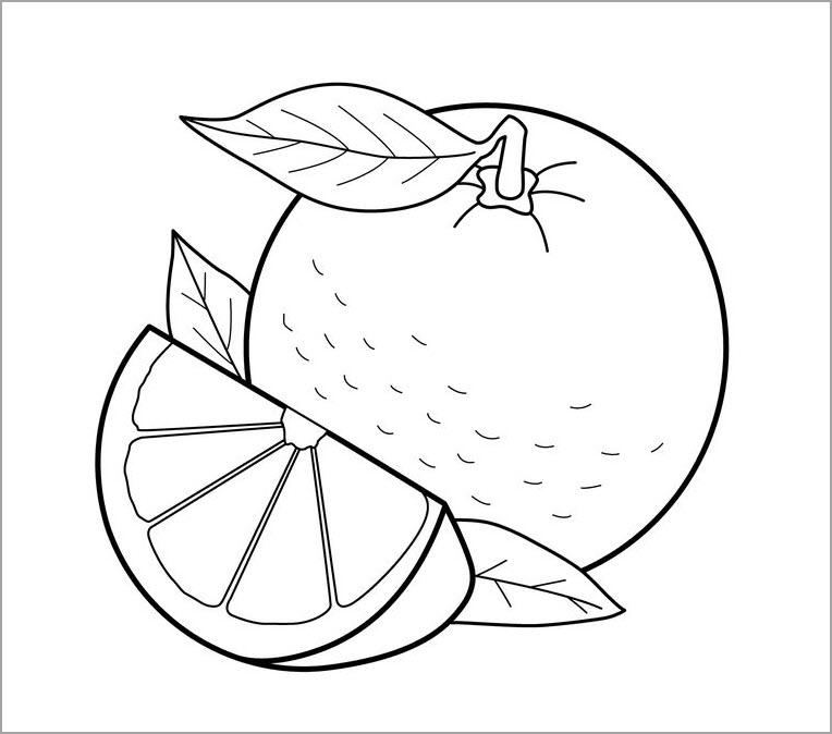 Tranh tô màu trái cây đẹp mắt, dễ thương nhất